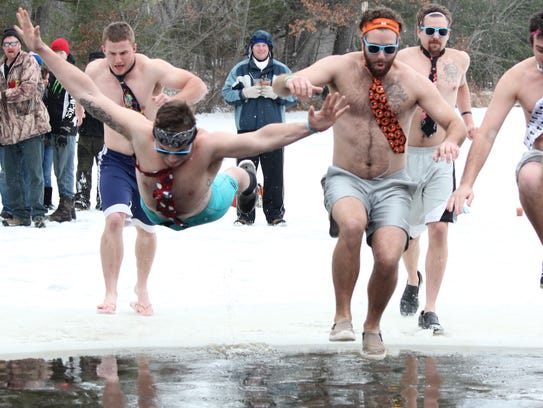 Rusty's Backwater Saloon hosted a 2015 polar plunge