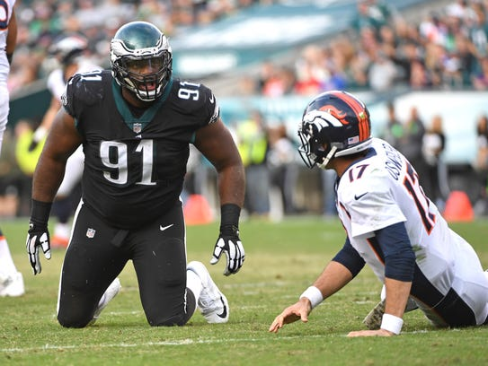 Philadelphia Eagles defensive tackle Fletcher Cox (91)