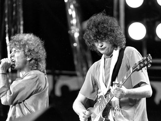 In this July 13, 1985 file photo, singer Robert Plant,