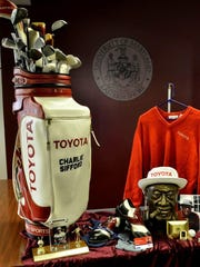 Memorabilia from Charles Sifford Sr. is displayed at