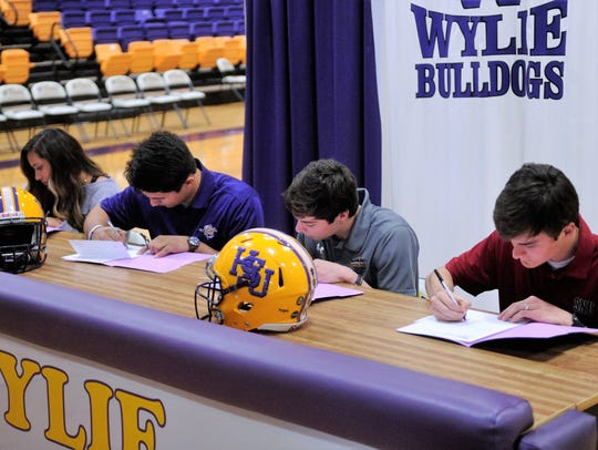 Wylie's (from left) Randie Dennison, Anthony Guerrero,