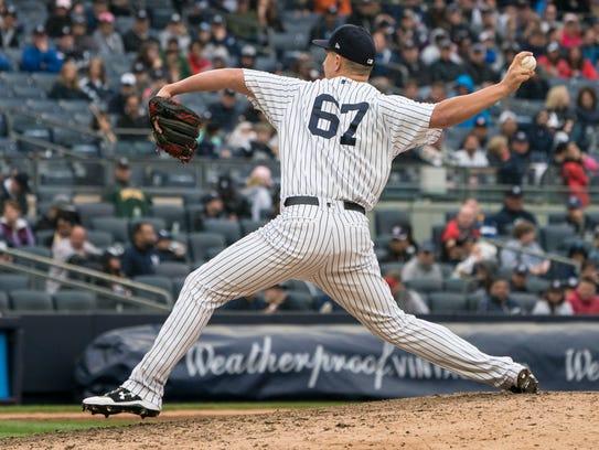 May 12, 2018; Bronx, NY, USA; New York Yankees pitcher