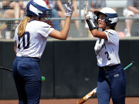 Appleton North's Niki Van Wyk and Andi Salm celebrate