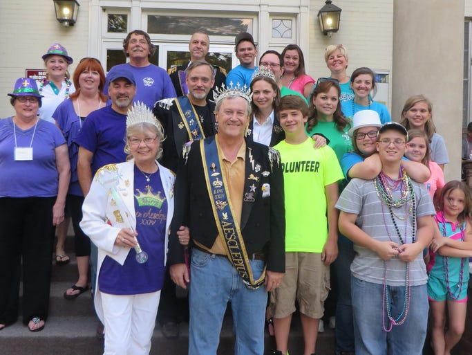 Members of the Krewe of Aesclepius and their families help out with the annual Jambalaya Jubilee Camp. The camp is for children with Juvenile Rheumatoid Arthritis and is held each June at Centenary College. The camp was started 24 years ago by Dr. Tom Pressly, long time Aesclepius krewe member.