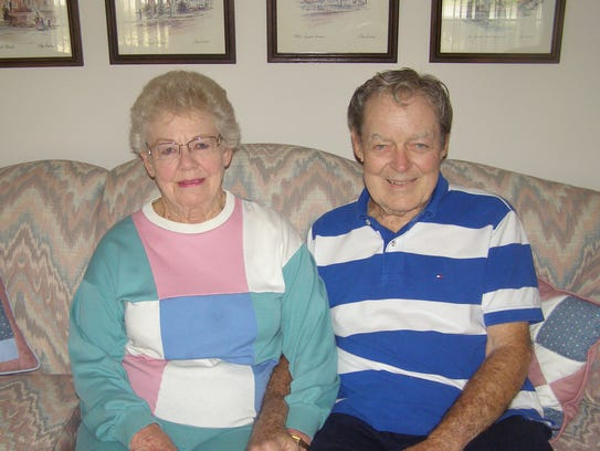 Bud Brown and Shirley Hudson share a storybook love