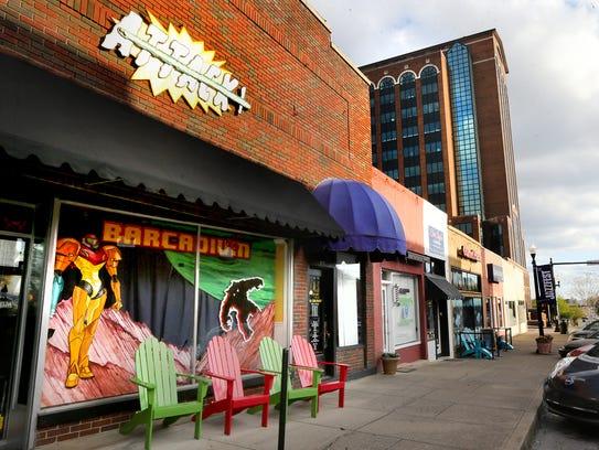 The new downtown Murfreesboro Barcadium is located