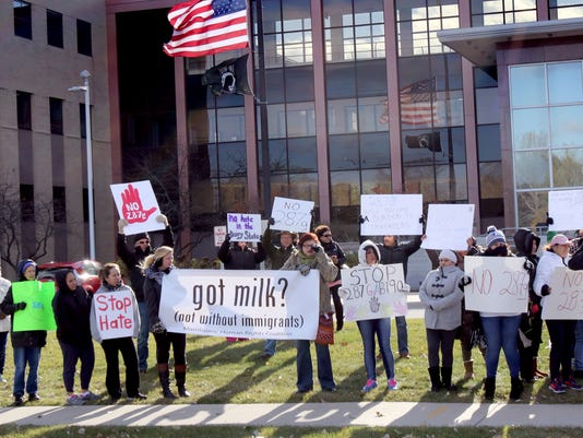 Immigration protest at Waukesha Courthouse