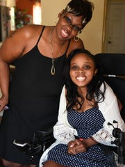 Christie Hentz, left, and her daughter Miss Mauldin