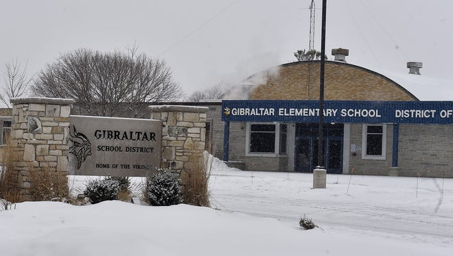 Gibraltar elementary and secondary school with district offices located at 3924 State 42, FIsh Creek.