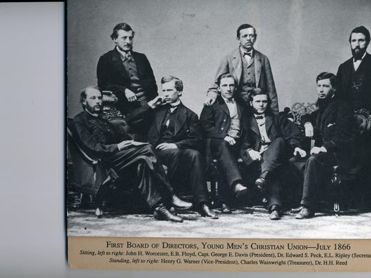 The Burlington Y has long had the support of community leaders, starting with its first board of directors that sat for this photo 150 years ago this month.