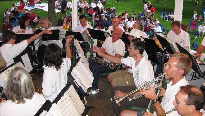 Williston Town band performs.