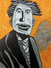 """""""Einstein"""" by Malachi Schmidt, marker and pencil drawing."""