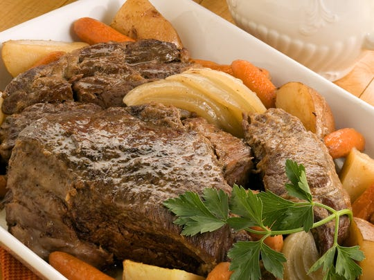 Good old-fashioned pot roast makes a satisfying meal - all the more so if you have a slow cooker, allowing you to assemble dinner early then walk away knowing it will be ready when you are at day's end.
