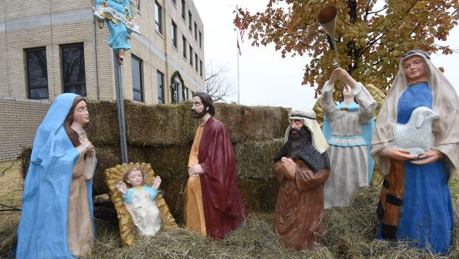 The controversial nativity scene at the Baxter County Courthouse will be the subject of a federal trial on Oct. 15 in Fayetteville.