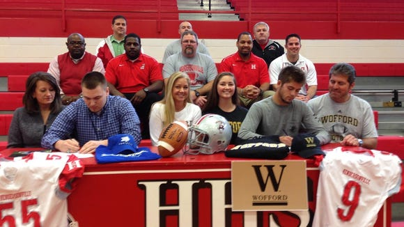 Hendersonville seniors Adam Rice and Cole Cleary have signed to play college football.