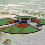 A conceptual drawing of the new four-field complex at Citizen Park.
