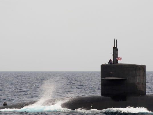 The ohio class ballistic missile submarine uss wyoming ssbn 742 is