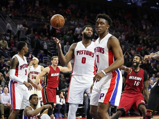 NBA: Miami Heat at Detroit Pistons