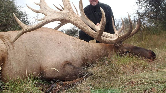 Kyle Ball's New Zealand Rocky Mountain elk scored 444 3/8-inches.