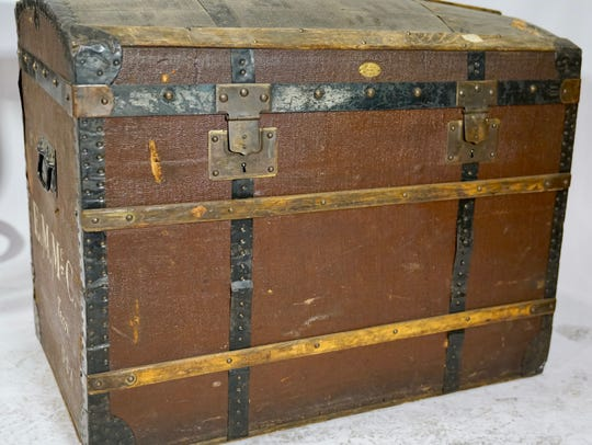 This trunk is one of several in an online auction of