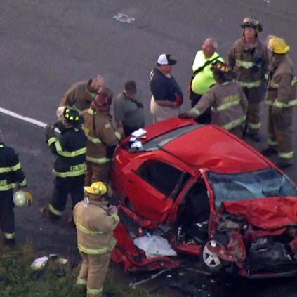 Route 13 is closed in both directions at Baldwin Road after a serious accident.