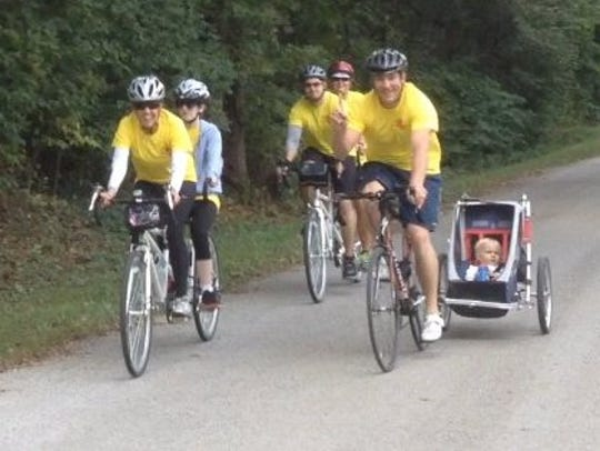 This year's Route 66 Tandem Cyclists team ride — pairing