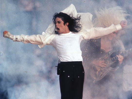Michael Jackson performs during the halftime show at