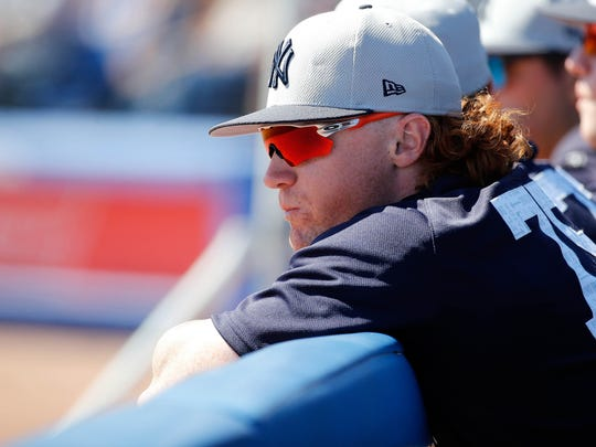 This was what Clint Frazier's hair looked like a week before Joe Girardi told him to cut it.