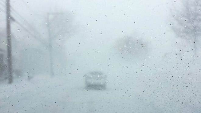 Sean Maciejewski of Webster captured the feel of white-knuckle white-out conditions on February 15th heading west on Lake Rd in Webster near the outlet.