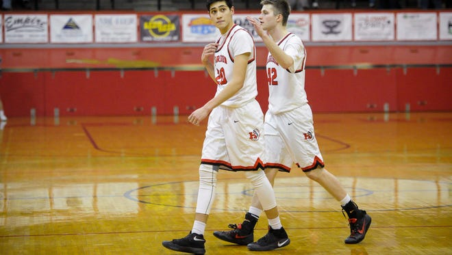 Robin Duncan, left, and Rilee Epley went through growing pains as juniors. The Harrison High School standouts are 5-1 to start their senior campaign.