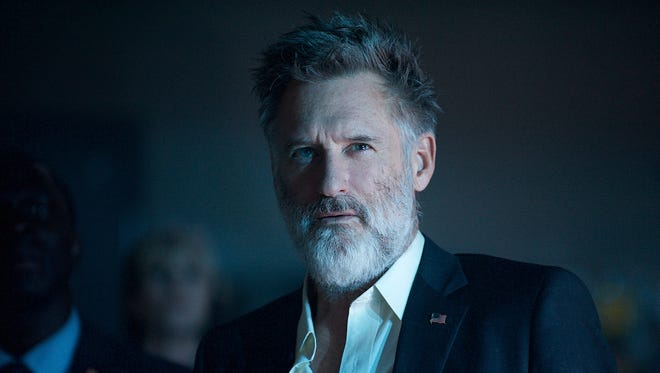 "He's back! Bill Pullman reprises his ""Independence Day"" role of Thomas Whitmore."