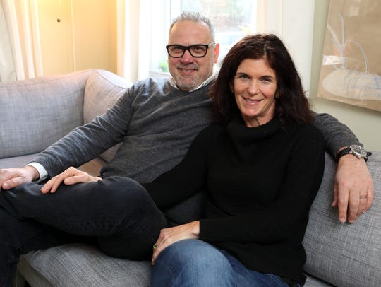 Chefs Andy and Patty Nusser in their home in Hastings-on-Hudson