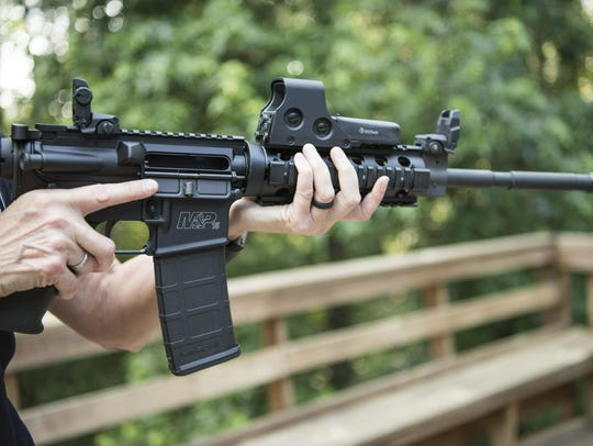 An AR-15.