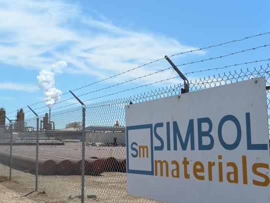 Simbol Materials' demonstration plant, seen on April