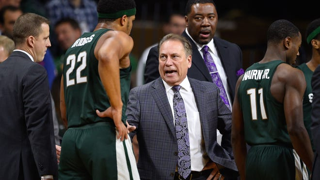Tom Izzo and his Michigan State Spartans, who have lost two of their last three games, play Saturday at Indiana.