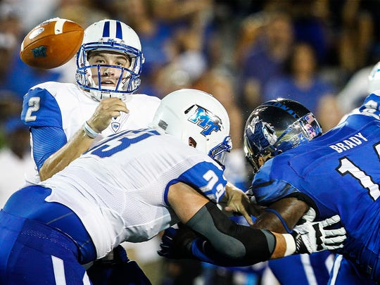 MTSU finished the season 1-3 to miss out on a bowl