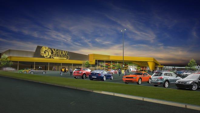 An artist's rendering of Yellow Brick Road Casino.