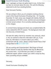 Howell Hurricane wrestling club's response to the Livingston