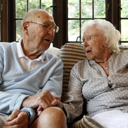 These two have been married for 75 years. He's 101. She'll be 100 in September. #lohud