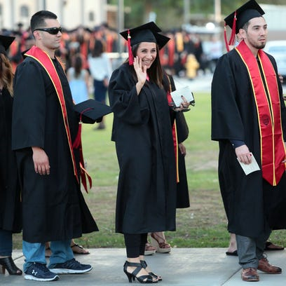 College of the Desert class of 2016 graduates attend their commencement ceremony on Friday May 27, 2016 in Palm Desert. COD graduated its largest class to date.