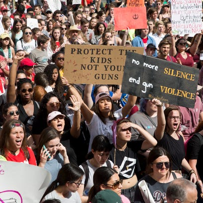Photos and videos: Students rally for stricter gun and mental health laws in Tallahassee