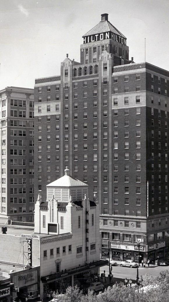 A Feb. 3, 1952, photo of the El Paso Hilton. The 17-story