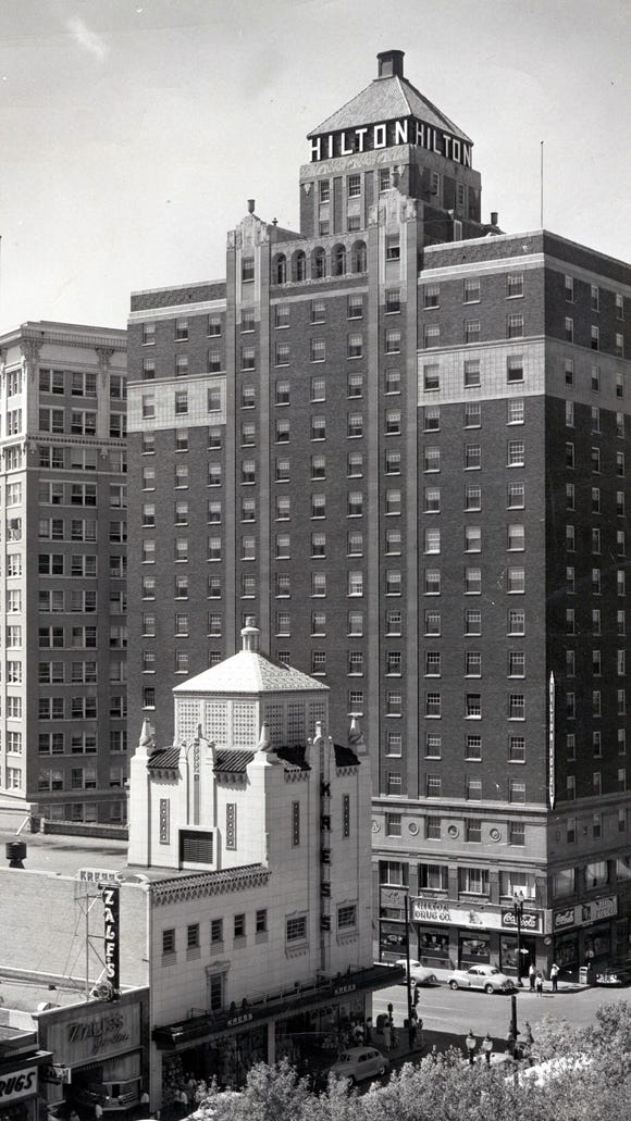 A Feb. 3, 1952, photo of the El Paso Hilton. The 17-story