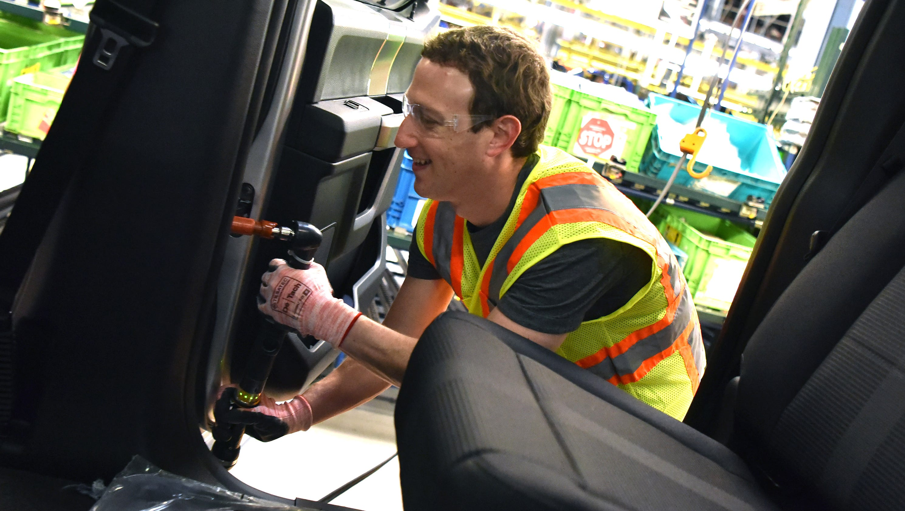 Facebook S Mark Zuckerberg Visits Ford Rouge Plant In Dearborn