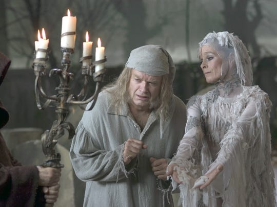 7. 'A Christmas Carol.' Kelsey Grammer gets a revelation of the true meaning of Christmas as Ebenezer Scrooge in NBC's musical version. Geraldine Chaplin, right, plays the Ghost of Christmas Future.