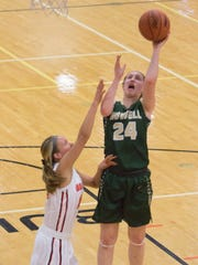 Howell's Leah Weslock (24) had a game-high 17 points