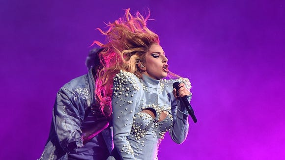 Lady Gaga performs during her 'Joanne' world tour at