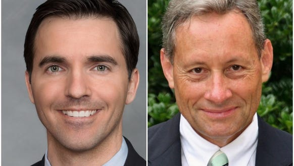 Sen. Jeff Jackson, left, and Carl Mumpower
