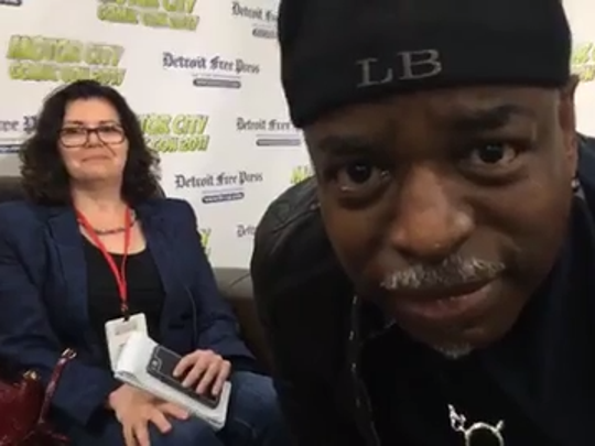 LeVar Burton talks to Julie Hinds at Motor City Comic Con 2017 on Saturday, May 20, 2017 at the Showcase in Novi.