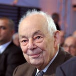 A file picture taken on June 3, 2009 shows Francois Michelin, former director French tyre maker Michelin, attending during a general assembly of the group in Paris. Francois Michelin died at the age of 89, the Michelin group announced in a press release on April 29, 2015.